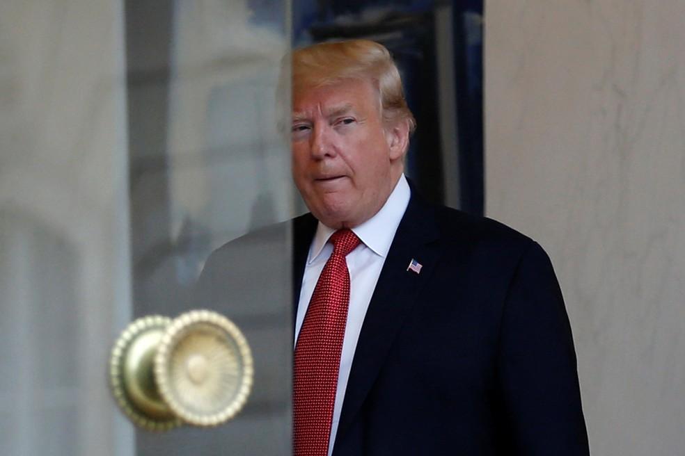 O presidente americano, Donald Trump, é visto no Elysee Palace, em Paris, em 10 de novembro de 2018  — Foto: Vincent Kessler/Reuters