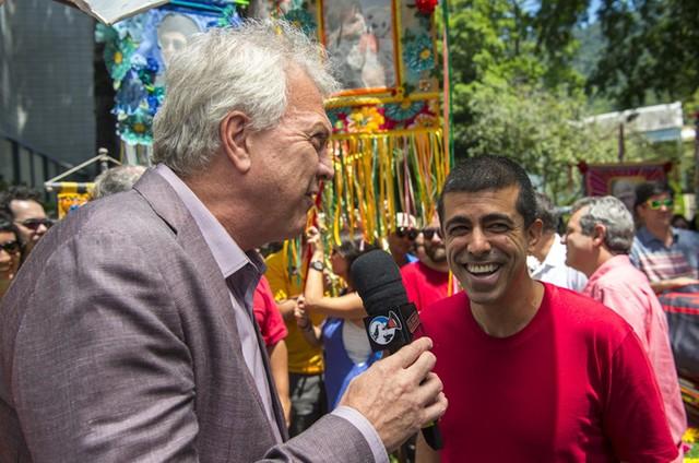Pedro Bial e Marcius Melhem (Foto: Estevam Avellar/TV Globo )