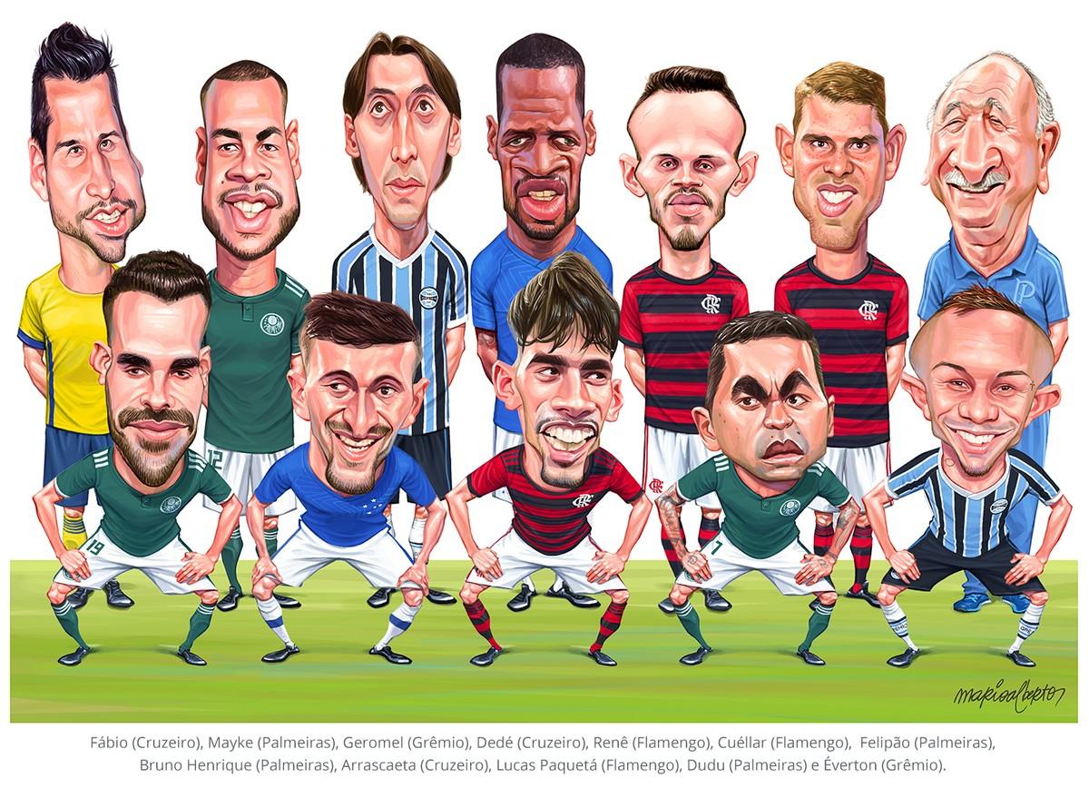 Essa foi a seleção do Brasileirão escalada pelos ...