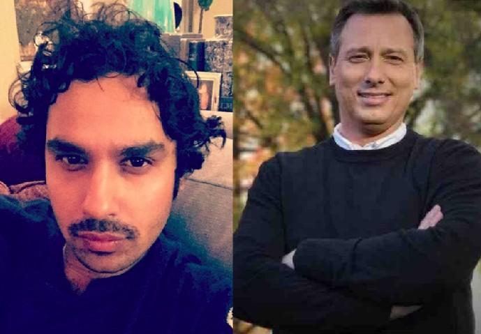 O ator Kunal Nayyar e o apresentador de TV Chris Burrous, vítima de uma overdose (Foto: Instagram/Facebook)