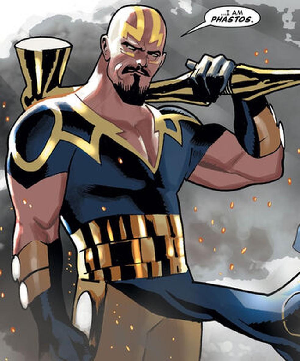 Phastos talvez seja o primeiro super-herói abertamente gay a aparecer no universo Marvel — Foto: Marvel