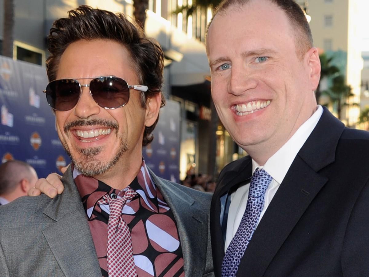 Robert Downey Jr. e Kevin Feige (Foto: Getty Images)