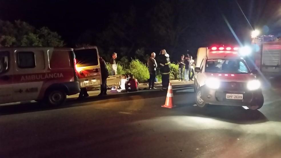 Pelo menos 16 pessoas ficaram feridas, sendo oito com gravidade — Foto: Paulo Barbosa/G1