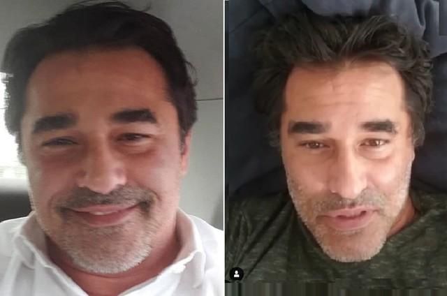 Luciano Szafir antes e depois de perder mais de seis quilos (Foto: Reprodução/Instagram)