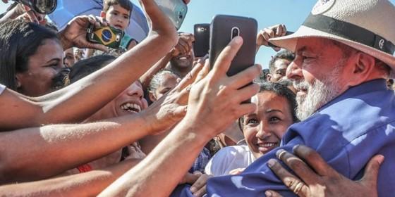 A caravana de Lula pelo Brasil (Foto: Ricardo Stuckert/Divulgação)