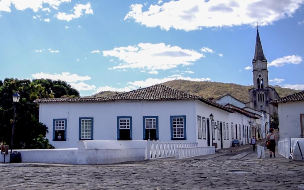 Casa de Cora Coralina, na cidade de Goiás — Foto: Vitor Santana/G1