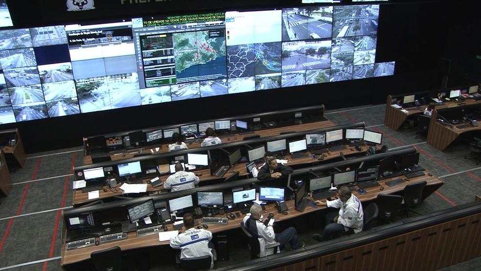 Centro de Operações Rio — Foto: Miguel Folco / G1