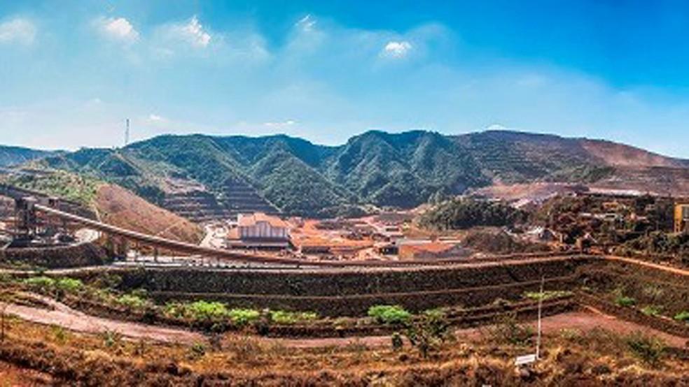 Mina de Brucutu, da Vale, em São Gonçalo do Rio Abaixo — Foto: Divulgação/Vale