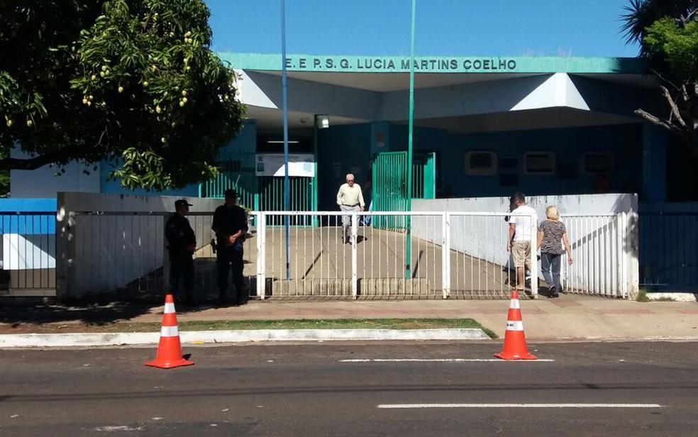Escola estadual Lúcia Martins Coelho, na região central de Campo Grande, oferece ensino médio de tempo integral (Foto: Anderson Viegas/G1 MS/Arquivo)