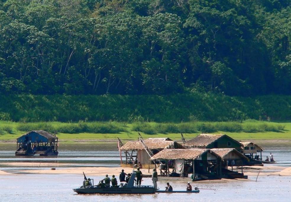 Aumenta fiscalização no Rio Madeira contra o garimpo (Foto: Divulgação/Marinha do Brasil)