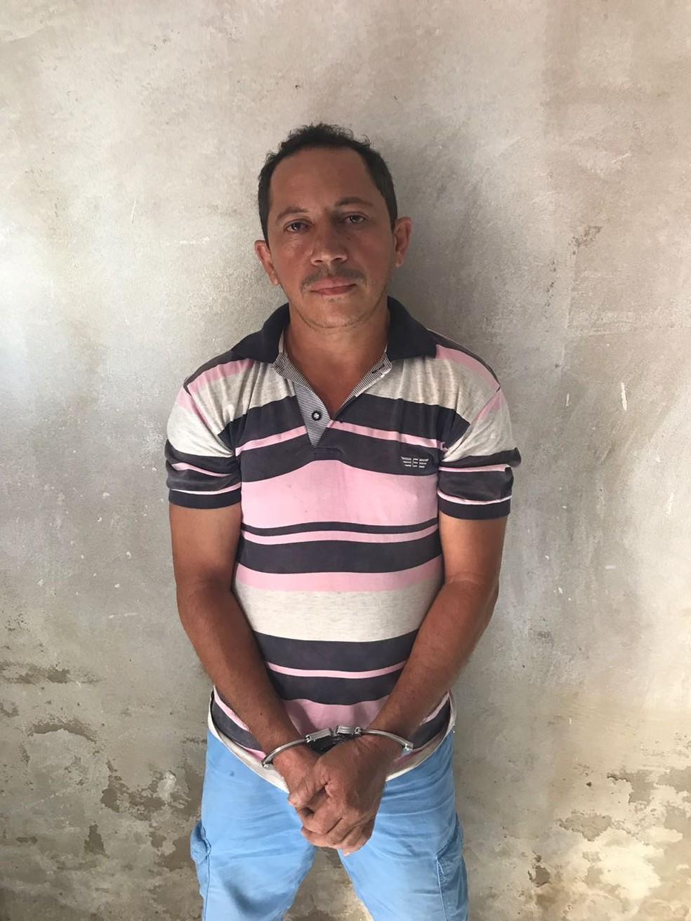 Sucarlos da Costa Silva foi preso em cumprimento a mandado de prisão temporária — Foto: Divulgação/Polícia Civil