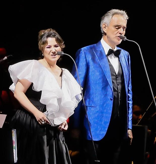 Maria Rita e Andrea Bocelli (Foto: Manuela Scarpa/Brazil News)