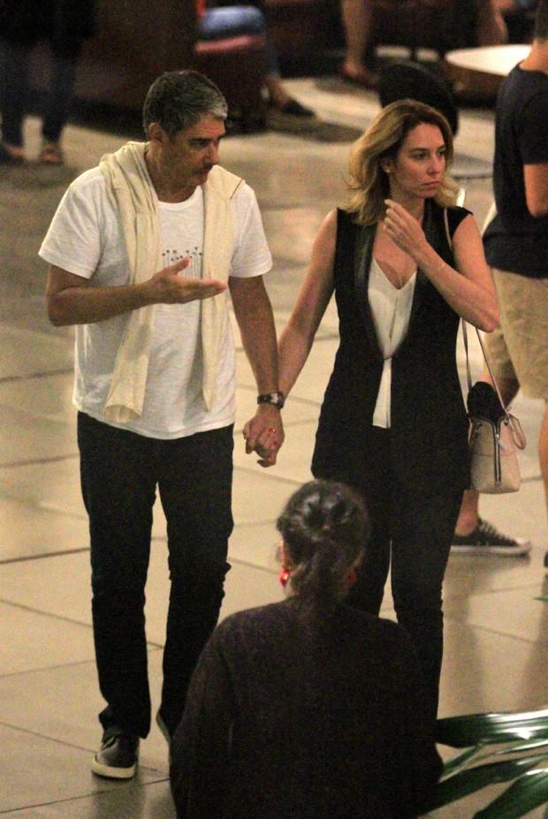 William Bonner e Natasha Dantas (Foto: AgNews)