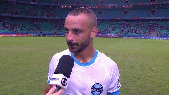 Thaciano fala sobre a vitória do Grêmio contra o Bahia