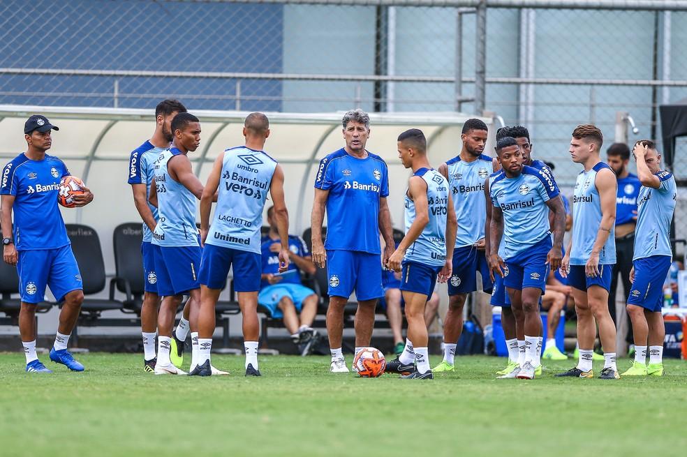 Grêmio Gauchão treino Renato Gaúcho — Foto: Lucas Uebel/DVG/Grêmio