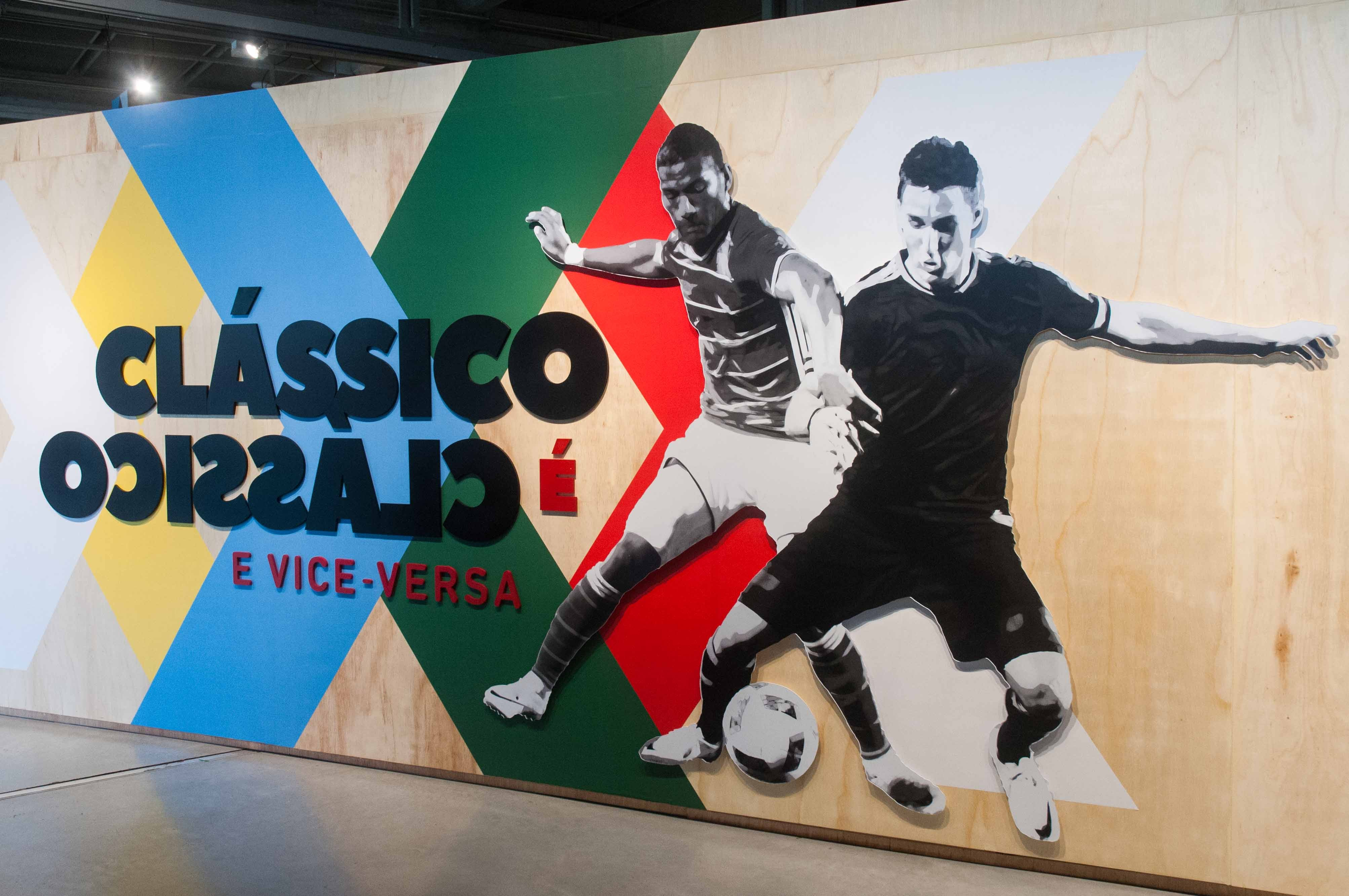 A exposição 'Clássico é clássico e vice-versa', no Museu do Futebol (Foto: Divulgação)