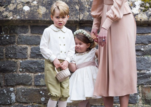 George e Charlotte no casamento de Pippa Middleton (Foto: Getty Images)