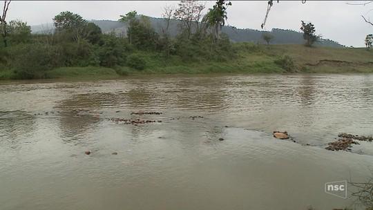 Bombeiros buscam por dois meninos de 8 anos que foram arrastados pela correnteza de rio no Sul de SC