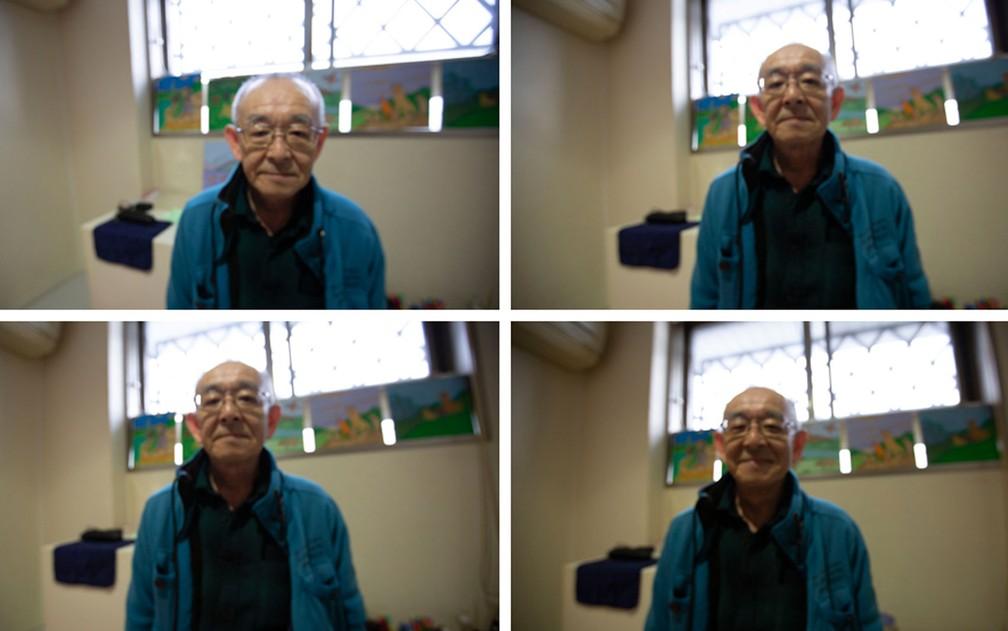 Toshio decorou a cela na prisão com ilustrações feitas por ele — Foto: BBC