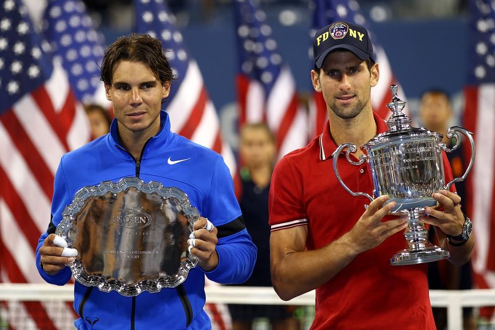 US OPEN 2020: Rafael Nadal anunciou que está fora do torneio enquanto Novak Djokovic aparece na lista de entrada — Foto: Getty Images
