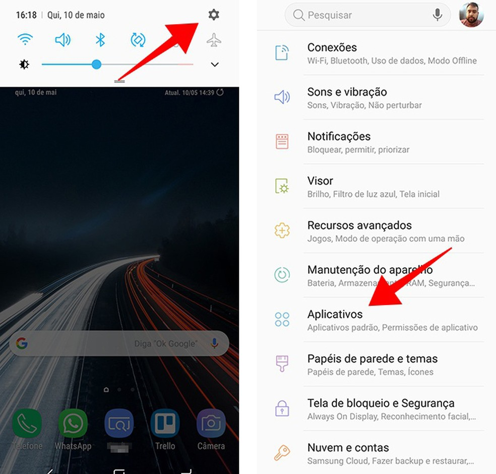 Acesse o menu de aplicativos das configurações do Android 8 — Foto: Reprodução/Paulo Alves
