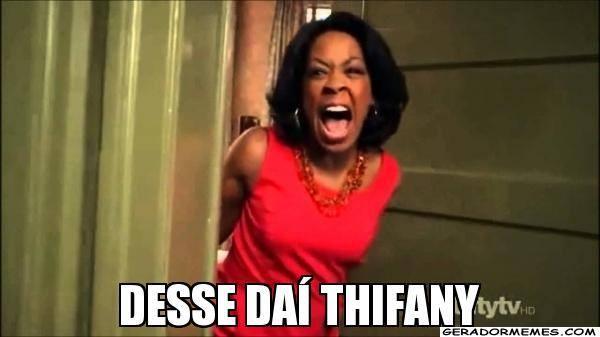 Memes sobre o vídeo da Thifany (Foto: Reprodução)