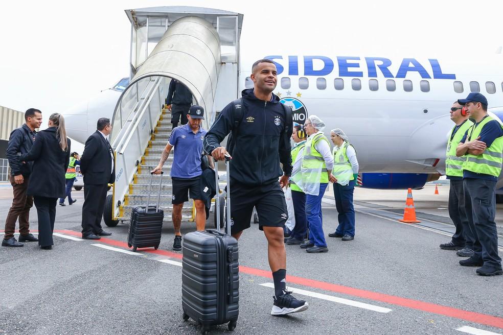 Delegação do Grêmio viajará em voo fretado para a Colômbia — Foto: Lucas Uebel/Divulgação Grêmio
