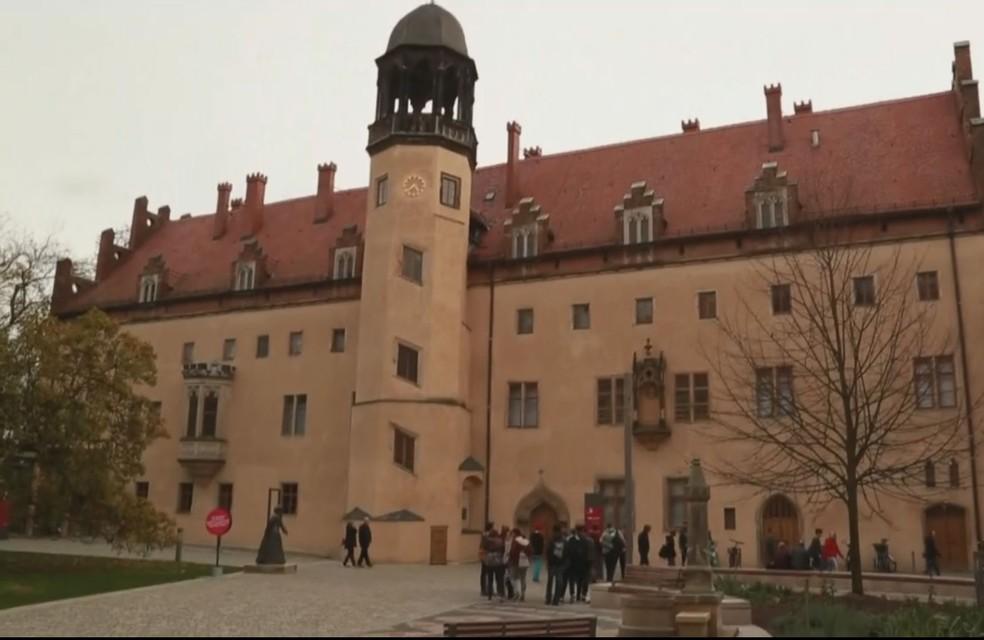 Martinho Lutero vivia neste antigo convento em Wittenberg, na Alemanha (Foto: Reprodução/ TV Globo)