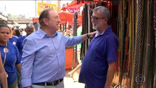 José Maria Eymael (PSDC) fez campanha na região metropolitana do Rio de Janeiro