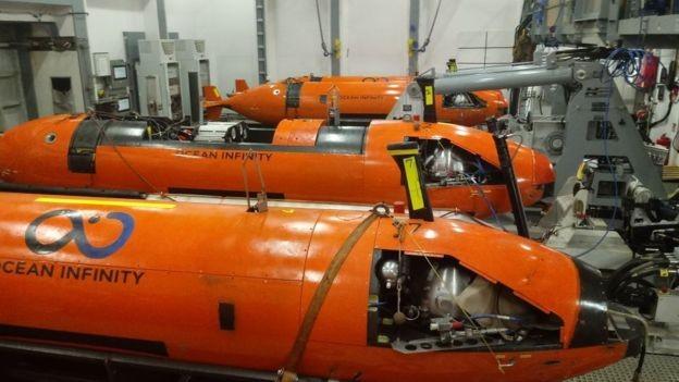 Drones subaquáticos da Ocean Infinity 'são os mais sofisticados do mundo', diz empresa (Foto: Marina Argentina/BBC)