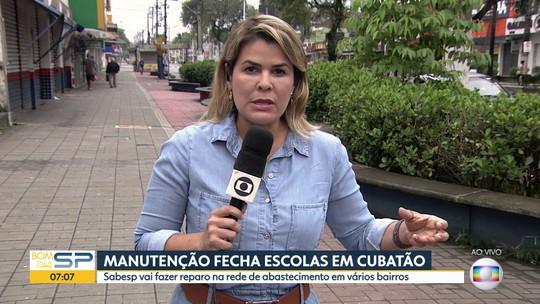 Serviço de abastecimento de água será interrompido em bairros de Cubatão