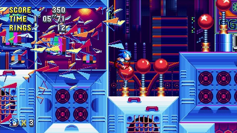 Sonic Mania resgata mecânicas 2D com maestria e introduz fases inéditas — Foto: Reprodução/Steam