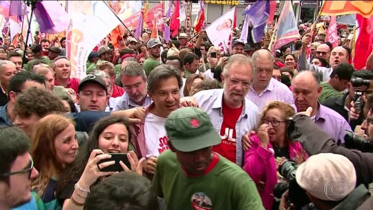 Haddad diz ter 'certeza' de que PT fará aliança com Ciro Gomes no segundo turno