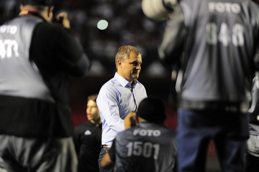 Diego Aguirre, técnico do São Paulo: com o apoio de Raí, Ricardo Rocha e Lugano, vem fazendo ótimo trabalho (Foto: Marcos Ribolli)