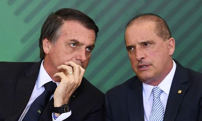 Bolsonaro e Onyx