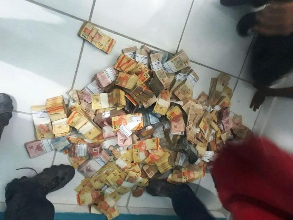 Furto em banco ocorreu no final de janeiro, no interior da Paraíba, próxima a Campina Grande (Foto: Polícia Civil de MT/Assessoria)