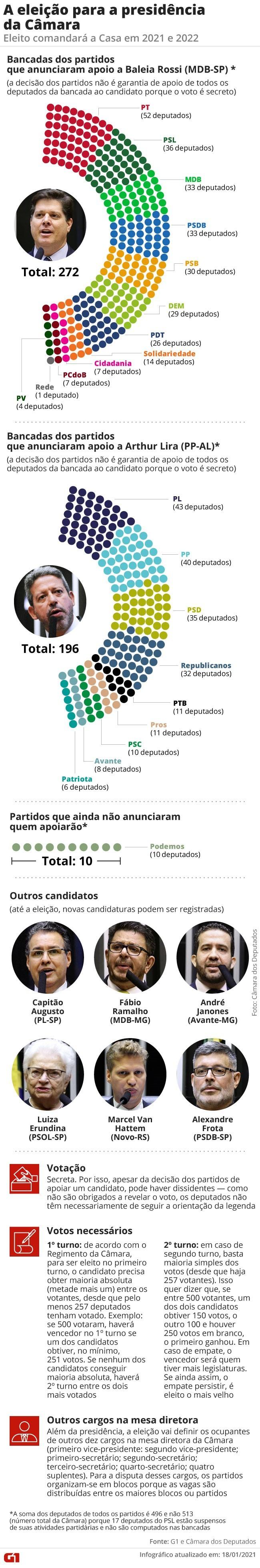 Em busca de votos pela presidência da Câmara, Baleia Rossi se encontra com deputados e governador em Goiânia