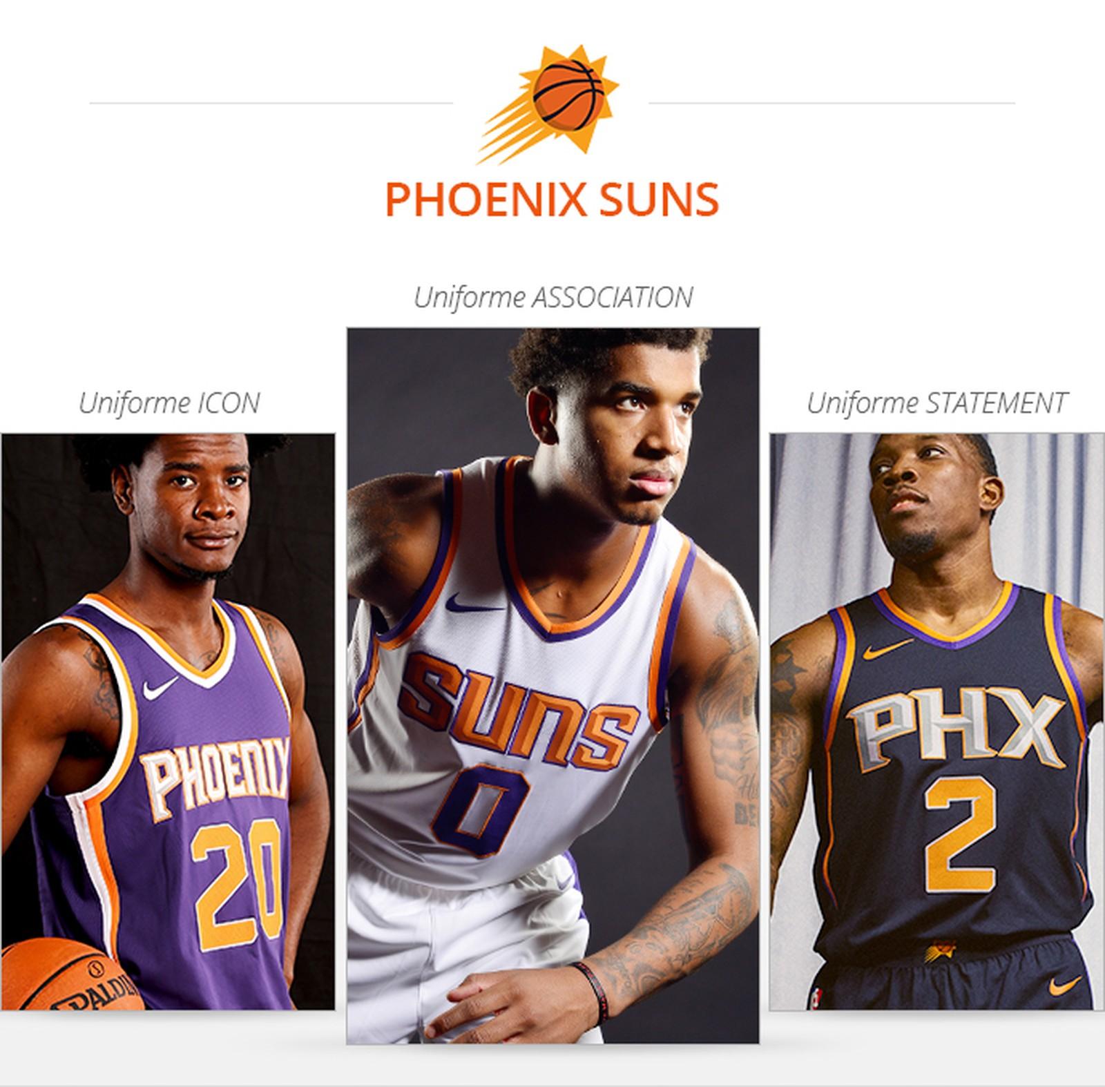 Uniformes Phoenix Suns saison 2017/18