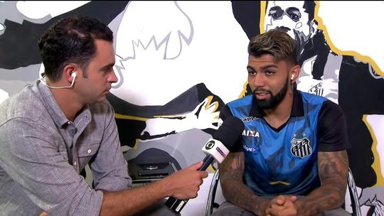 """Gabigol, sobre boa fase no Santos: """"Oportunidade de jogar"""""""