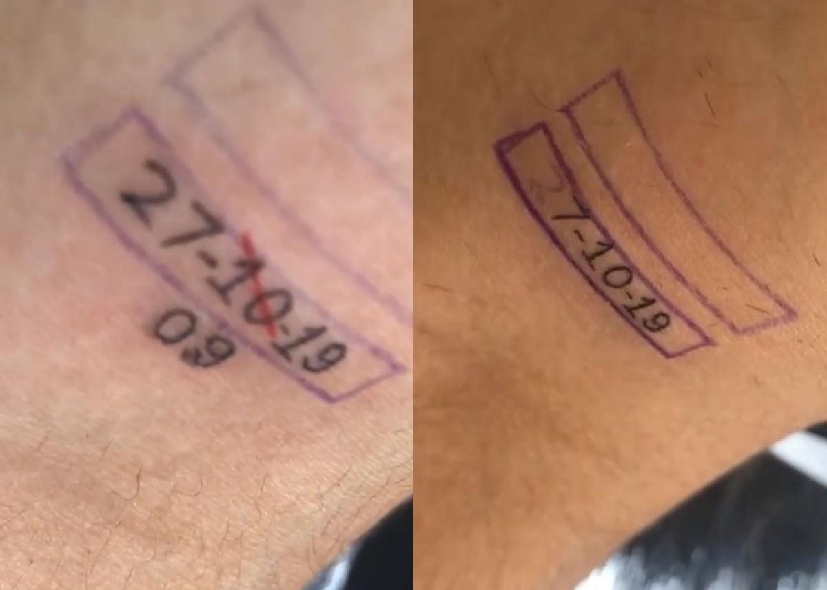Fã de Bebe Rexha que subiu ao palco tatua data errada do show no braço: 'Tô rindo muito'