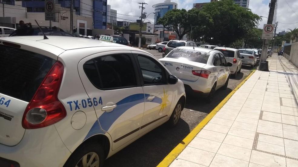 Táxi em Natal (arquivo) — Foto: Ediana Miralha/ Inter TV Cabugi