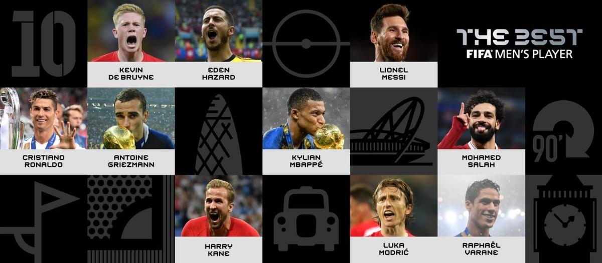 35f6a6a6ef Fifa divulga 10 candidatos ao prêmio de melhor do mundo e deixa Neymar fora