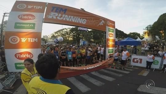 TEM Running em Bauru conscientiza competidores sobre a importância do esporte