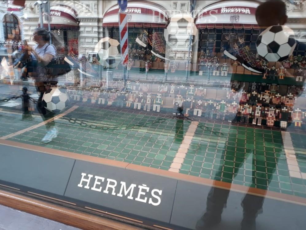 A vitrine da Hermès em Moscou (Foto: Pedro Carvalho)