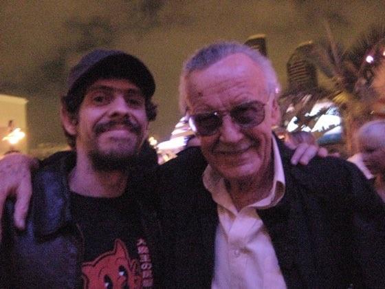 Gabriel Bá e Stan Lee (Foto: Twitter/Reprodução)