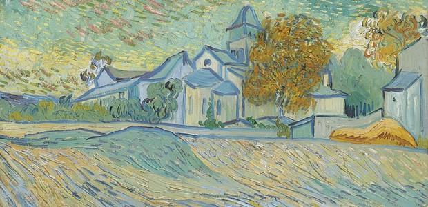 A obra Vue de l'asile et de la Chapelle de Saint-Rémy, de Vincent Van Gogh (Foto: Divulgação)