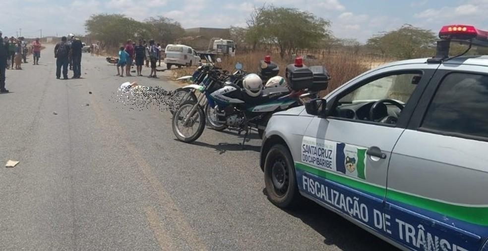 Acidente na PE-160 em Santa Cruz do Capibaribe — Foto: Ney Lima/Divulgação