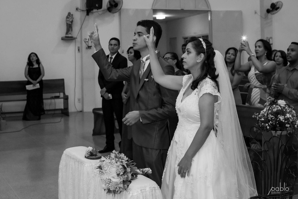 Wanderson Thiago Siqueira e Shirley Lima Oliveira  — Foto: Pablo Ferreira