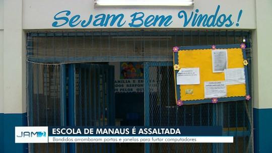 Escola municipal é alvo de assalto e tem janelas e portas arrombadas, em Manaus