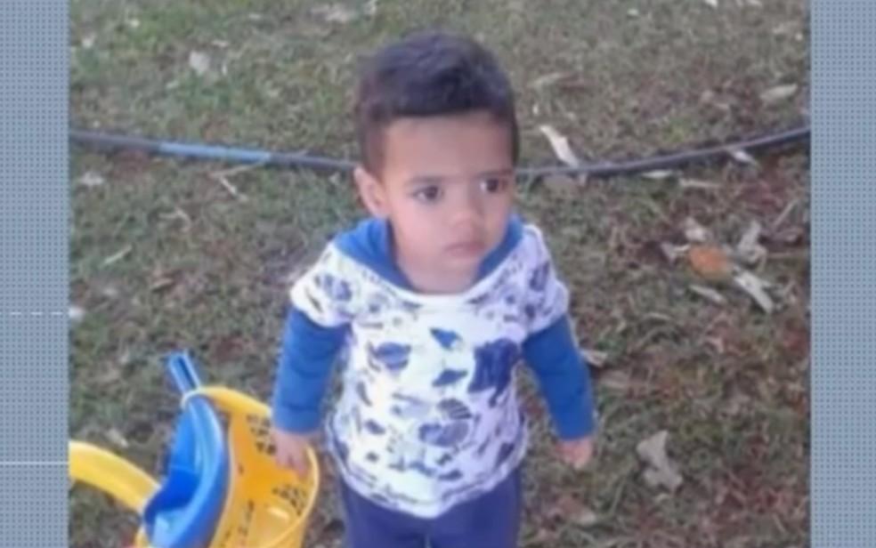 Bebê foi picado por escorpião na cozinha de casa, em Panamá, Goiás — Foto: Reprodução/TV Anhanguera